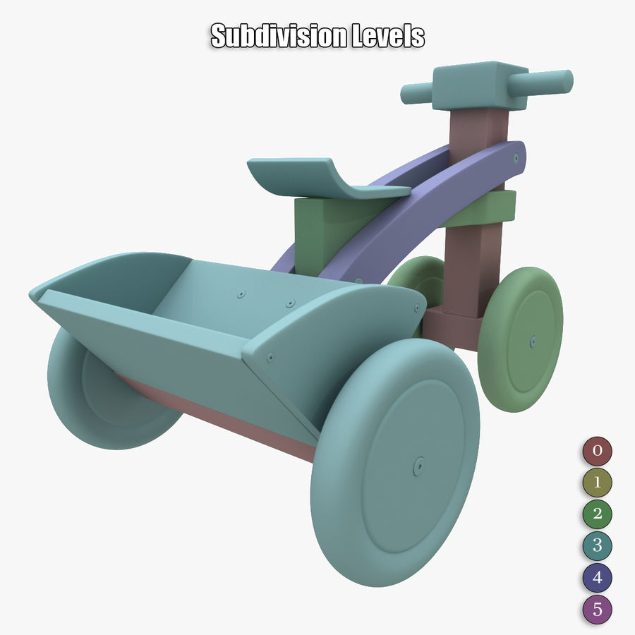 Kinderen driewieler royalty-free 3d model - Preview no. 21
