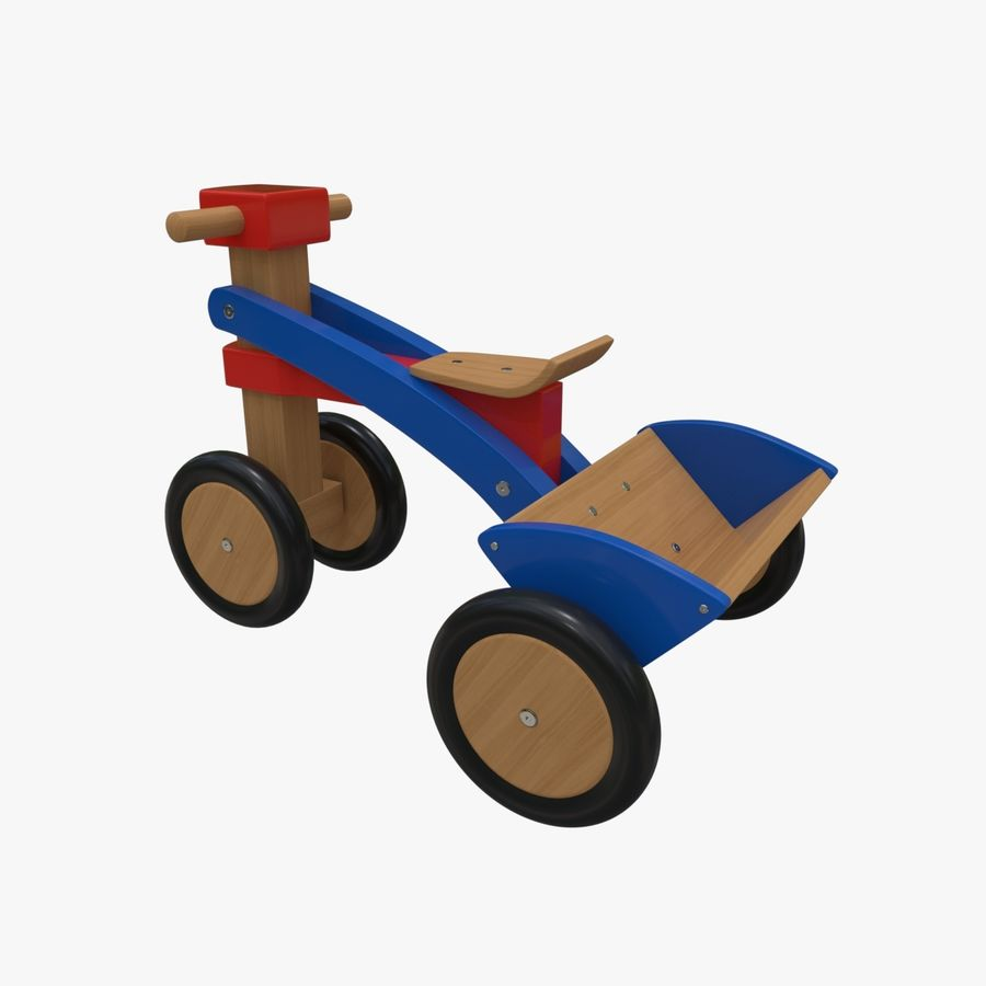 Kinderen driewieler royalty-free 3d model - Preview no. 3