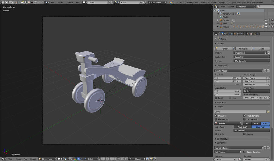 Kinderen driewieler royalty-free 3d model - Preview no. 23
