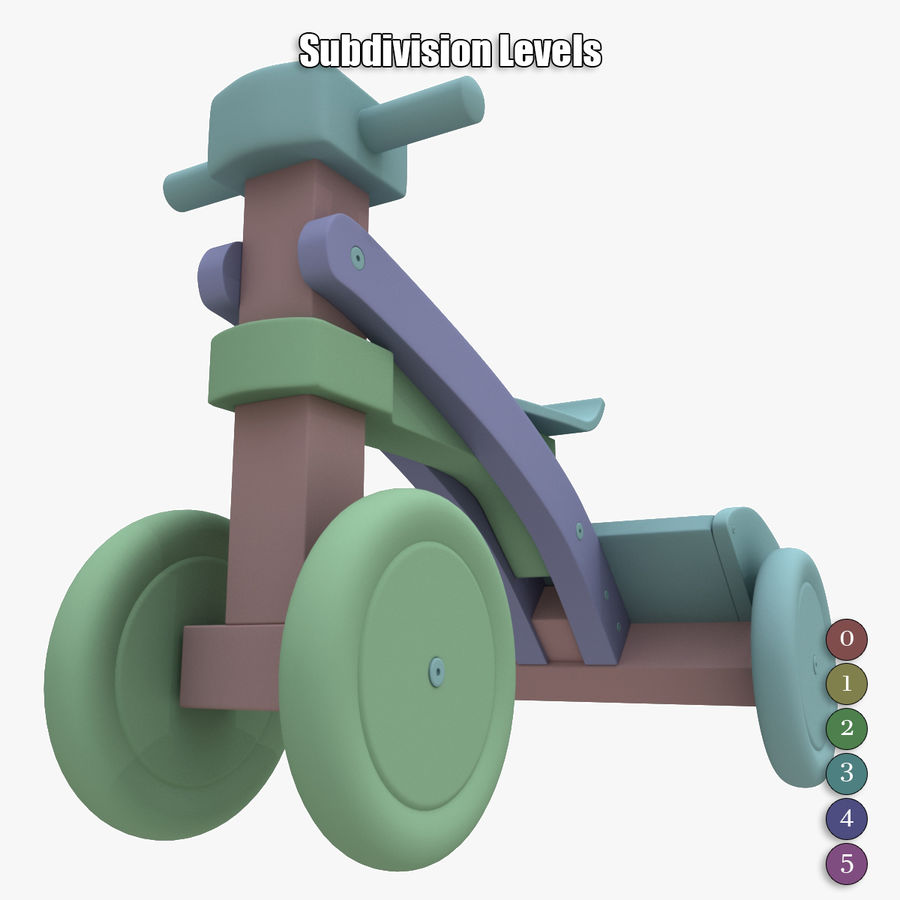 Kinderen driewieler royalty-free 3d model - Preview no. 22