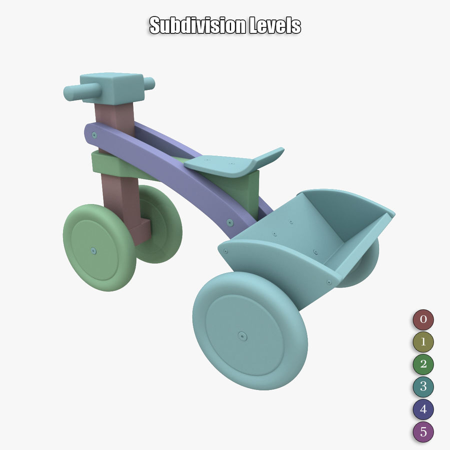 Kinderen driewieler royalty-free 3d model - Preview no. 20