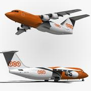 BAE 146 TNT Airways 3d model