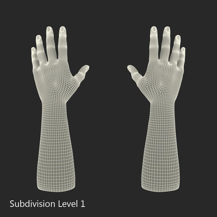 アフリカ人の手3Dモデル royalty-free 3d model - Preview no. 12
