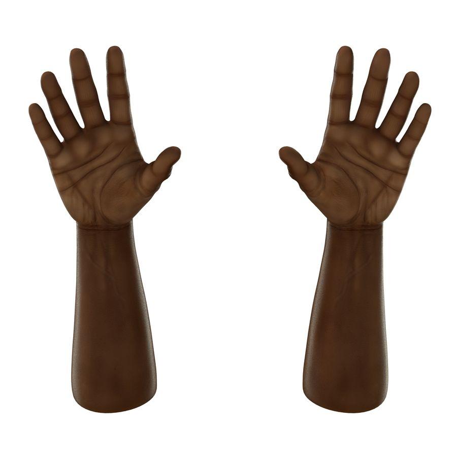 アフリカ人の手3Dモデル royalty-free 3d model - Preview no. 8