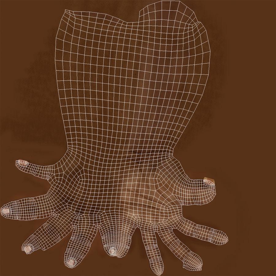 アフリカ人の手3Dモデル royalty-free 3d model - Preview no. 13