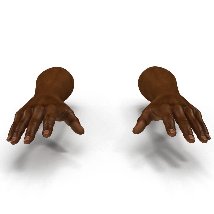 アフリカ人の手3Dモデル royalty-free 3d model - Preview no. 7