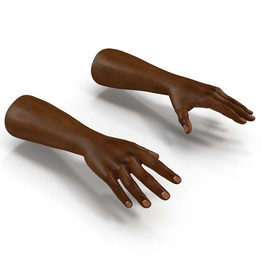 アフリカ人の手3Dモデル royalty-free 3d model - Preview no. 6