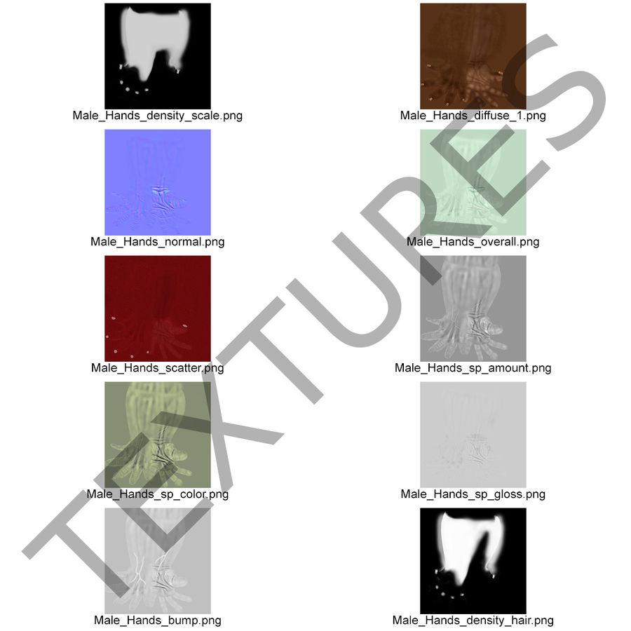 アフリカ人の手3Dモデル royalty-free 3d model - Preview no. 14