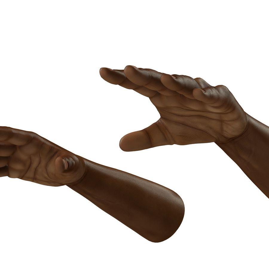 アフリカ人の手3Dモデル royalty-free 3d model - Preview no. 9