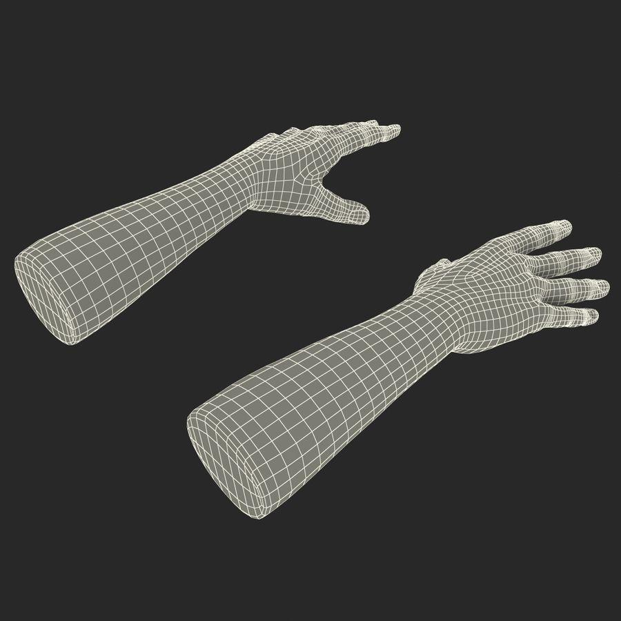アフリカ人の手3Dモデル royalty-free 3d model - Preview no. 17