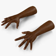 African Man Hands Pose 4 Model 3D 3d model