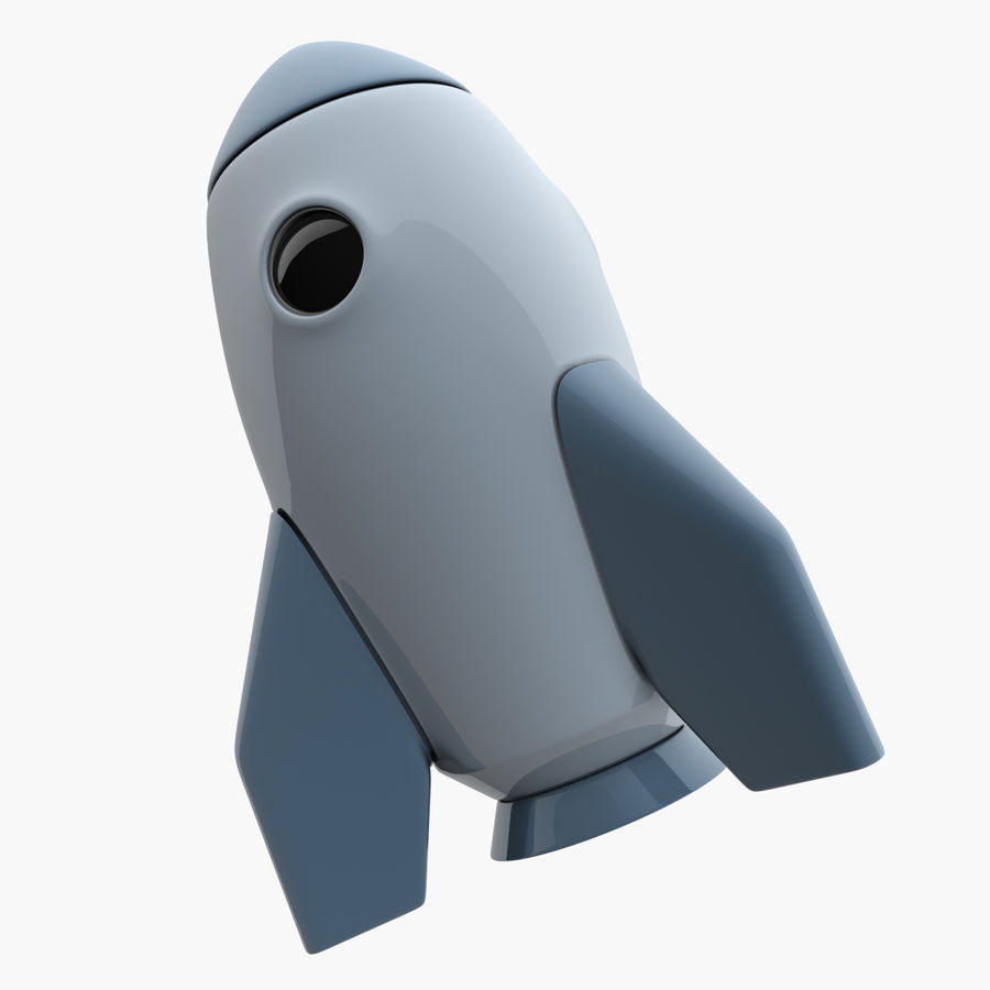 Cartoon Space Rocket royalty-free 3d model - Preview no. 9
