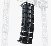 Stage Speaker System JBL 3d model