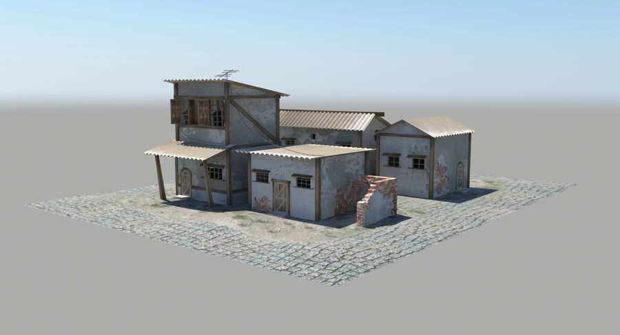 Old Houses royalty-free 3d model - Preview no. 8