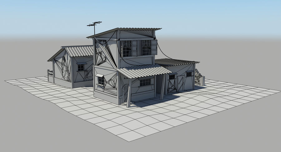 Old Houses royalty-free 3d model - Preview no. 13