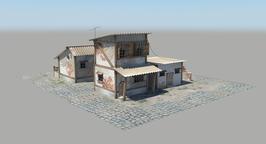 Old Houses royalty-free 3d model - Preview no. 6