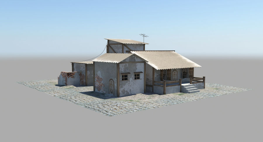 Old Houses royalty-free 3d model - Preview no. 9
