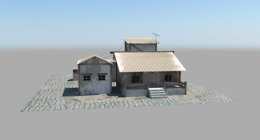 Old Houses royalty-free 3d model - Preview no. 10