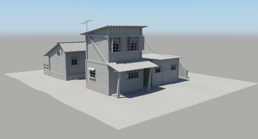 Old Houses royalty-free 3d model - Preview no. 12
