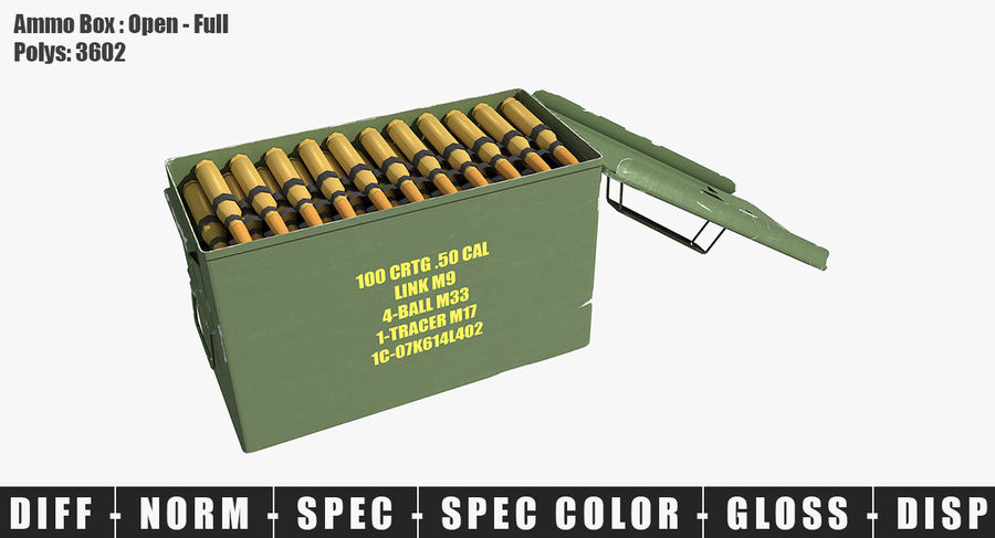 Ammunitions royalty-free 3d model - Preview no. 22