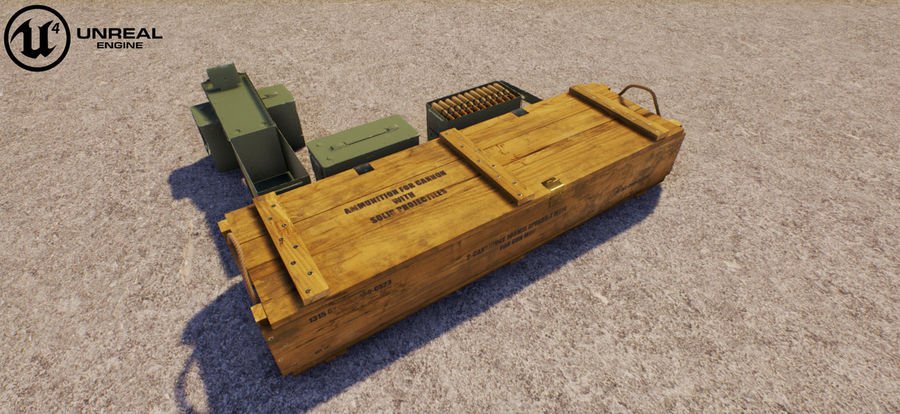 Ammunitions royalty-free 3d model - Preview no. 32