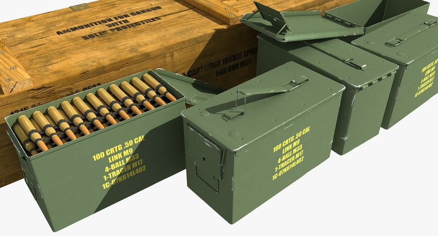 Ammunitions royalty-free 3d model - Preview no. 8