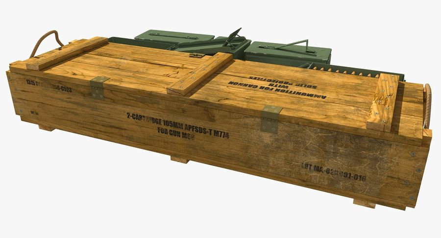 Ammunitions royalty-free 3d model - Preview no. 4