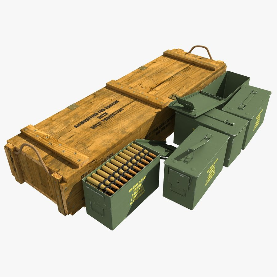 Ammunitions royalty-free 3d model - Preview no. 1