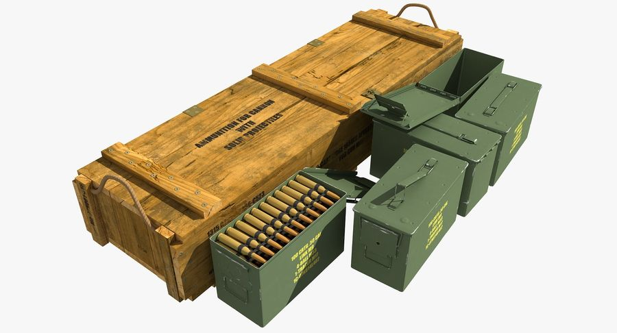 Ammunitions royalty-free 3d model - Preview no. 2