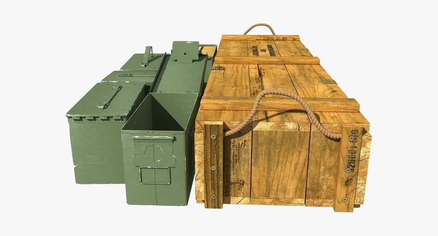Ammunitions royalty-free 3d model - Preview no. 9
