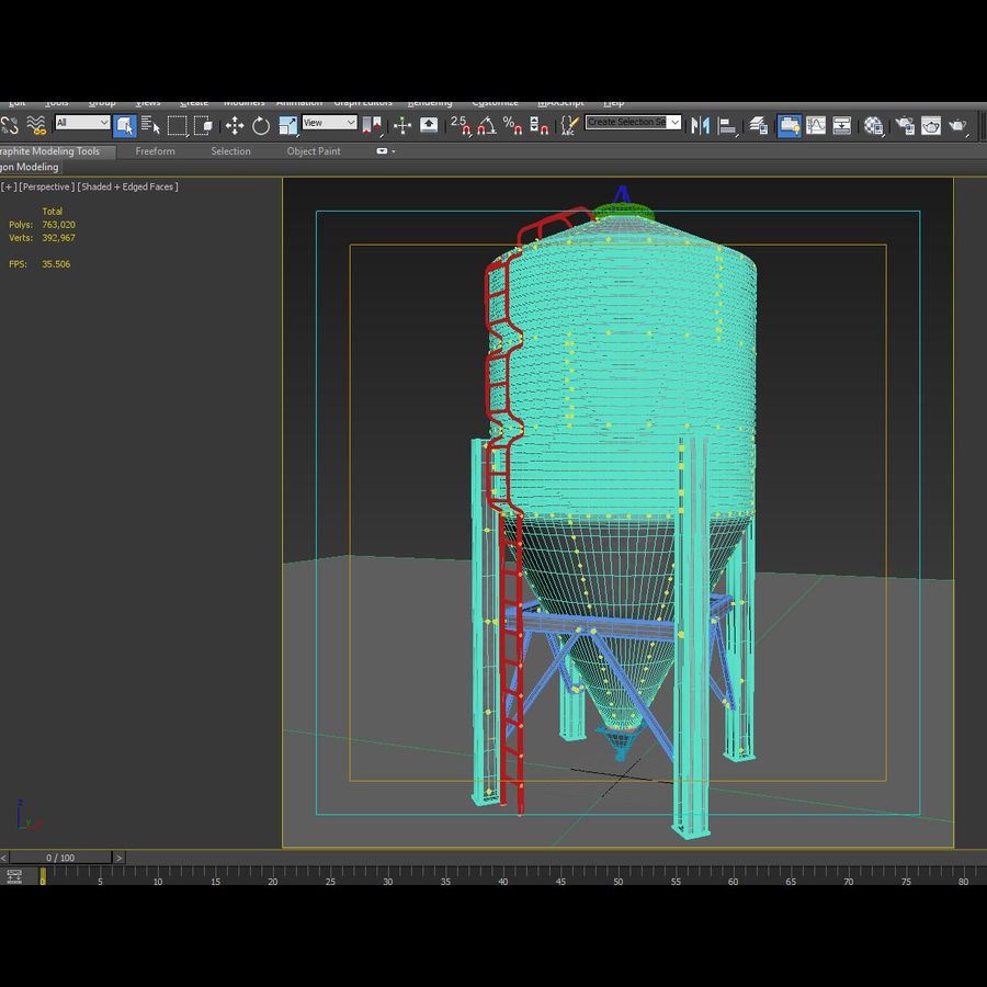 Silo royalty-free 3d model - Preview no. 26
