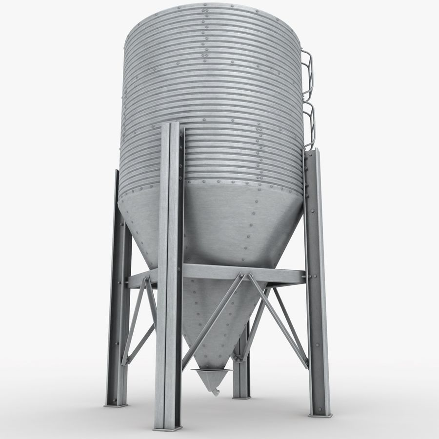 Silo royalty-free 3d model - Preview no. 6