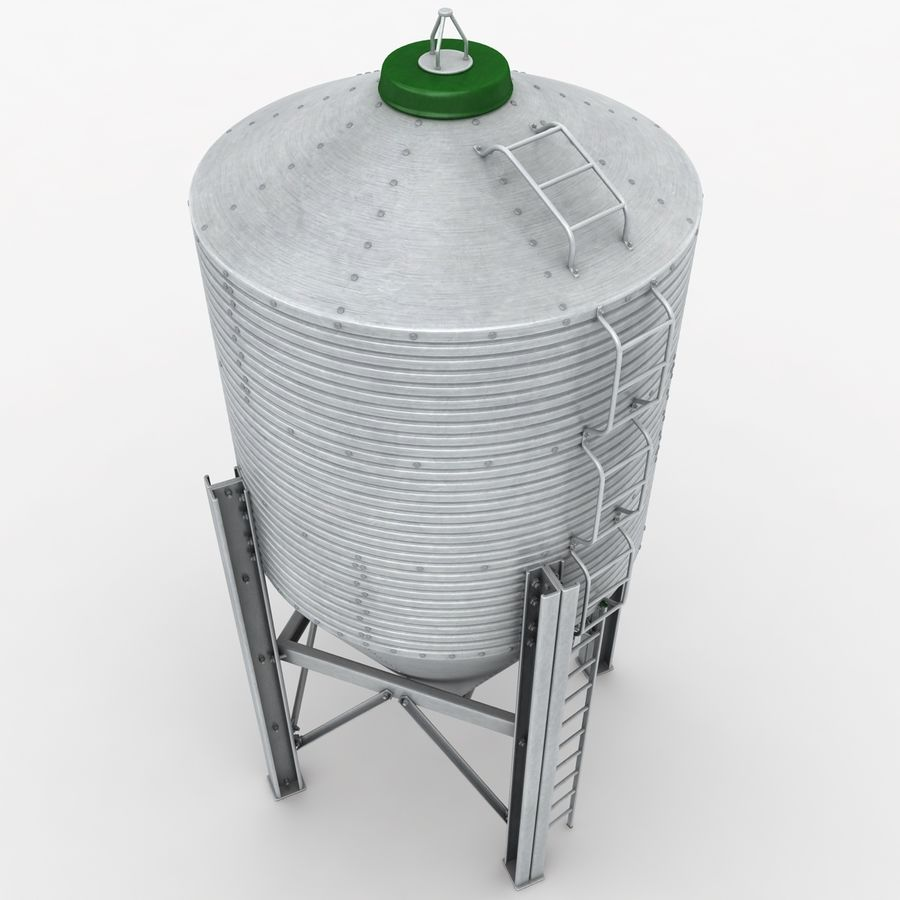 Silo royalty-free 3d model - Preview no. 4