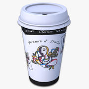 Takeout Coffee Cup (Picasso Design) 3d model
