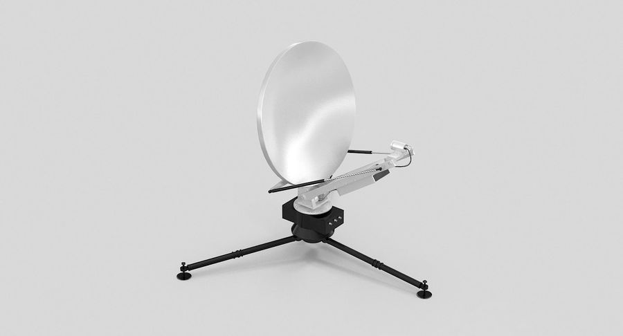 Tripod Broadcast Antenna royalty-free 3d model - Preview no. 11