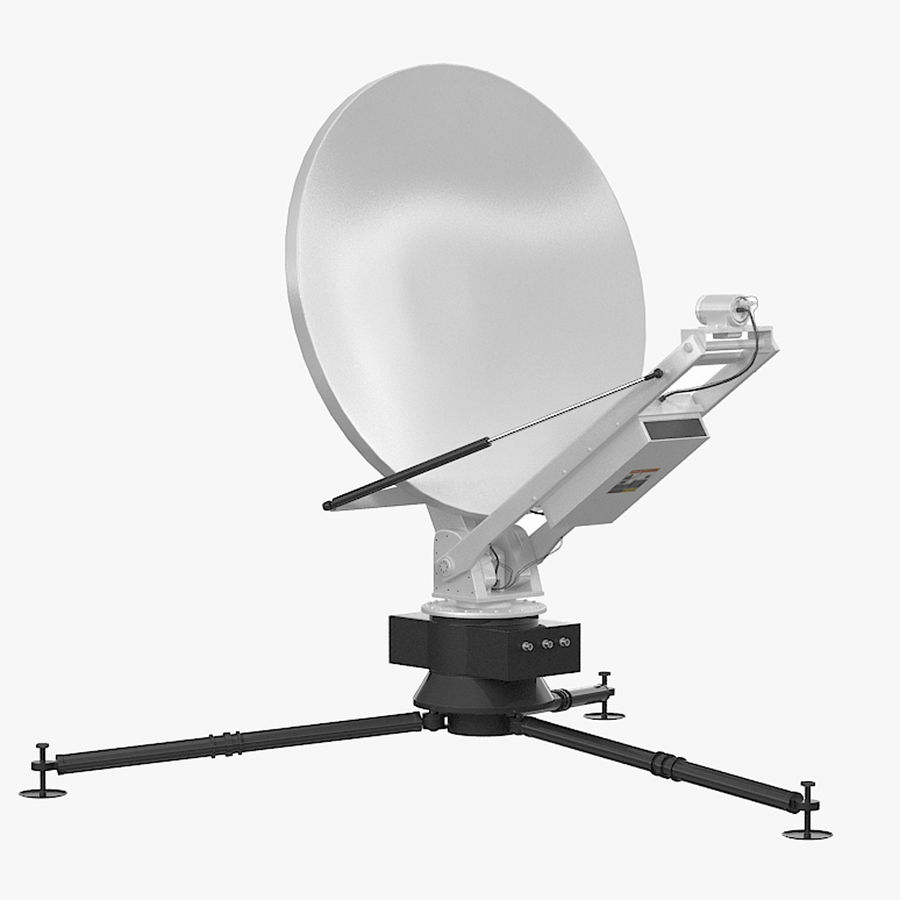 Tripod Broadcast Antenna royalty-free 3d model - Preview no. 1