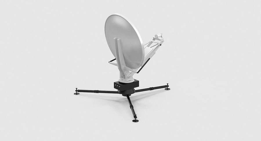 Tripod Broadcast Antenna royalty-free 3d model - Preview no. 10