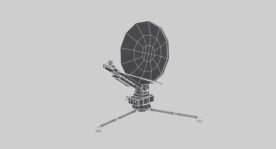 Tripod Broadcast Antenna royalty-free 3d model - Preview no. 13