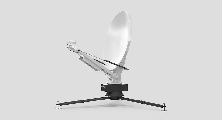 Tripod Broadcast Antenna royalty-free 3d model - Preview no. 6