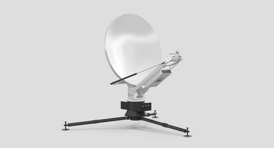 Tripod Broadcast Antenna royalty-free 3d model - Preview no. 3