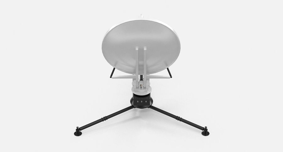 Tripod Broadcast Antenna royalty-free 3d model - Preview no. 9