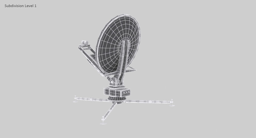 Tripod Broadcast Antenna royalty-free 3d model - Preview no. 16