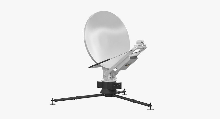 Tripod Broadcast Antenna royalty-free 3d model - Preview no. 2
