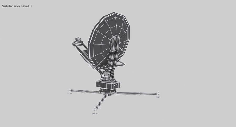 Tripod Broadcast Antenna royalty-free 3d model - Preview no. 15