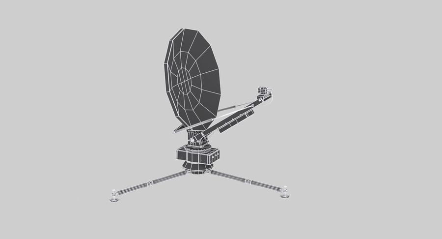 Tripod Broadcast Antenna royalty-free 3d model - Preview no. 14