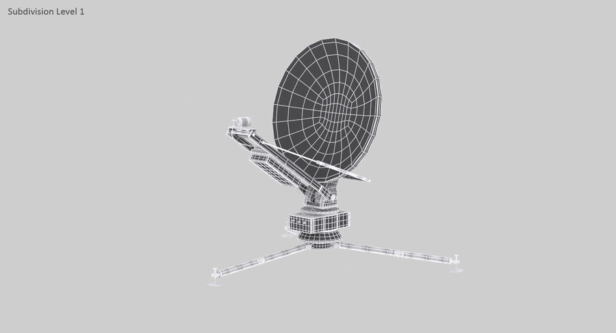 Tripod Broadcast Antenna royalty-free 3d model - Preview no. 18
