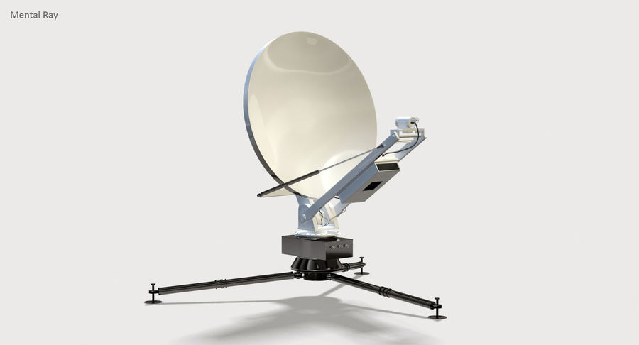 Tripod Broadcast Antenna royalty-free 3d model - Preview no. 4