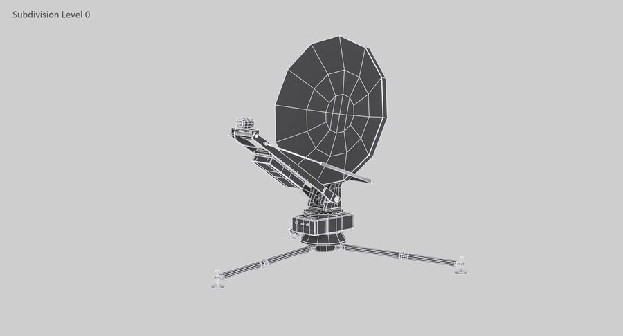 Tripod Broadcast Antenna royalty-free 3d model - Preview no. 17