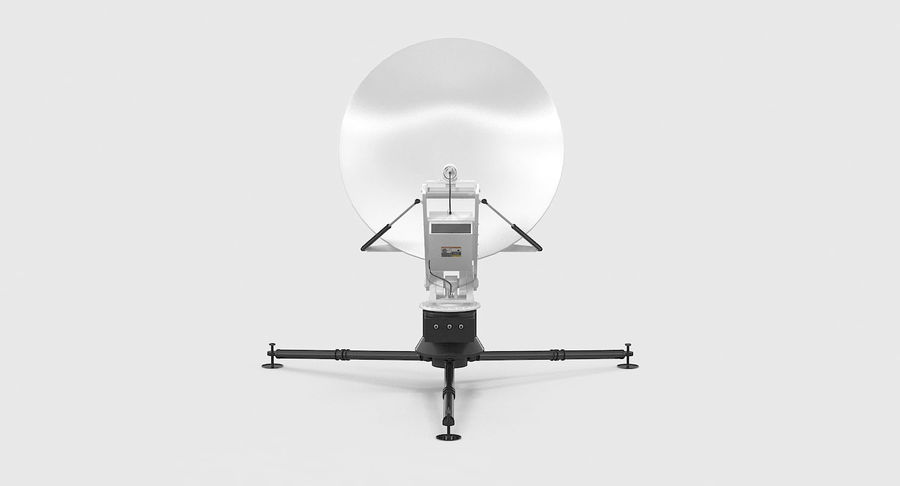 Tripod Broadcast Antenna royalty-free 3d model - Preview no. 5