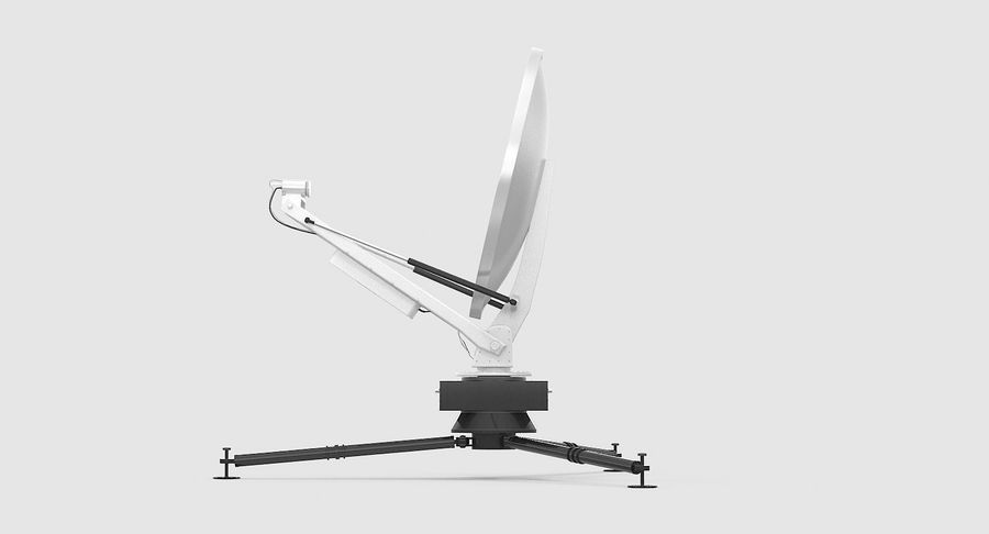 Tripod Broadcast Antenna royalty-free 3d model - Preview no. 7